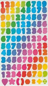 Number stickers 2 sheets 100+stickers