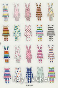 Craftholic  Sock Bunny Sock Bear Sticker Craftholic