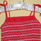 Red Polka dot Dress in Cotton