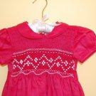 Red Linen Hand smocked Dress