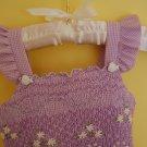 Purple Cotton Gingham Dress