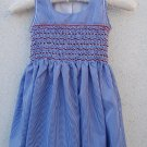 Blue Gingham Cotton Dress