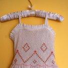 White Linen Spaghetti Strap Dress