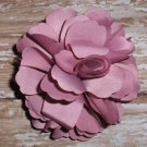 Mauve pink Olivia Satin Flower clippie