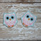 White felt owl clippies set