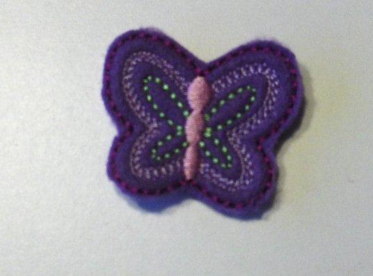 Purple Butterfly clippie set