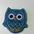 Teal owl felt clippies