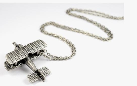 Up & Away: Model Airplane Necklace