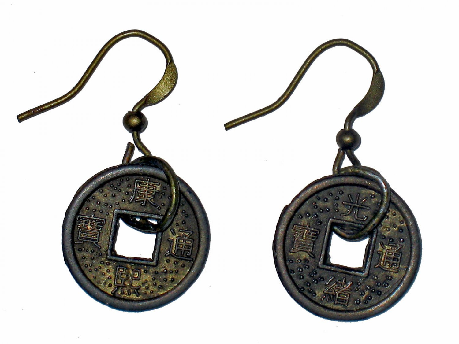 Small Chinese Coin Earrings