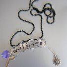 Express Yourself! A Word to the Wise Necklace