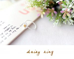 Daisy Flower Ring Size 6