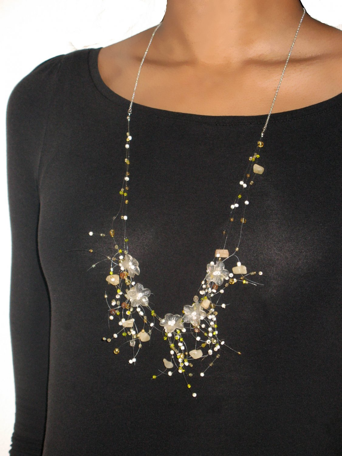 Spring Fever: Yellow Flower Illusion Necklace