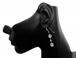 Sparkle & Shine: Swarovski .925 Sterling Silver White Opal Earrings