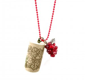 Put a Cork in It! Wine Country Pendant in Merlot Red