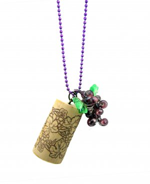 Put a Cork in It! Wine Country Pendant in Syrah Purple
