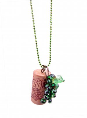 Put a Cork in It! Wine Country Pendant in Riesling Green