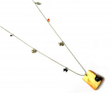 Quiet as a Mouse: Vintage Mouse & Cheese Pendant Necklace