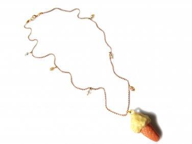 One Scoop: Vintage Ice Cream Cone Pendant Necklace