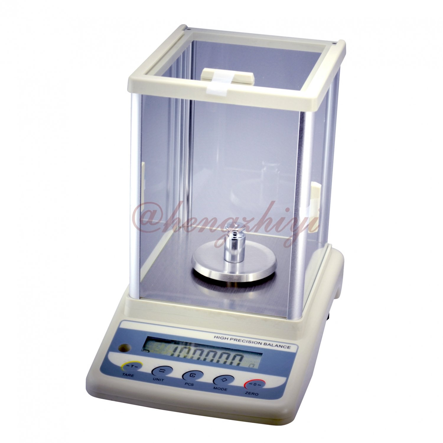 200g x 0.001g Jewelry Carat Scale Lab Balance + German Sensor + Wind Shield + RS232 Interface