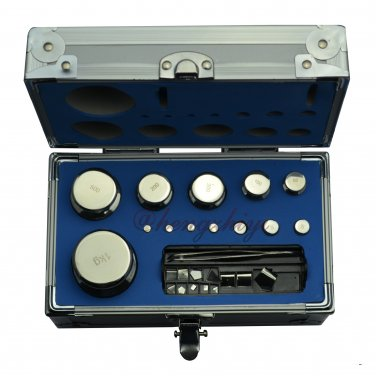F2 Class 25pcs 1mg-1000g Calibration Weights Kit w Stainless Steel w Certificate, Free Shipping
