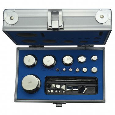 F2 Grade 24pcs 1mg-500g Calibration Weights Kit w Stainless Steel w Certificate, Free Shipping