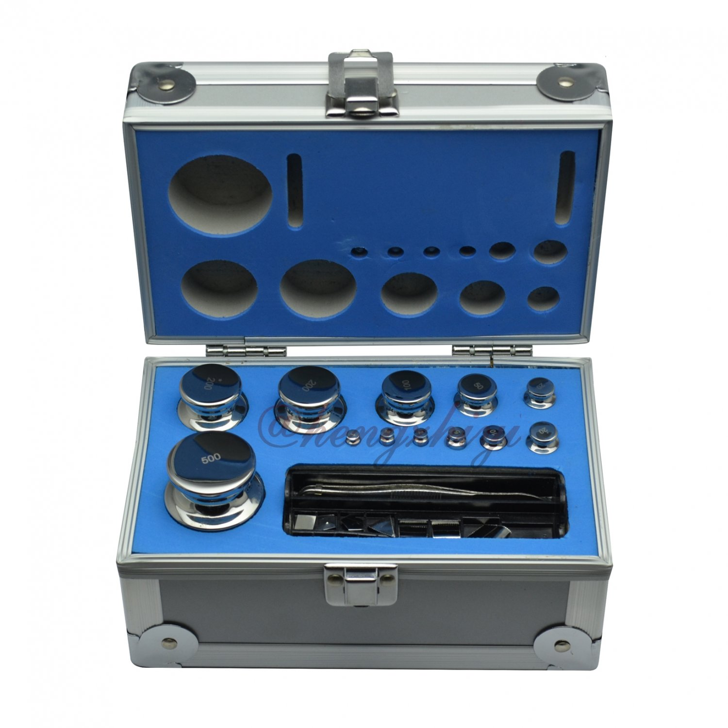 F1 Class 24pc 1mg-500g Stainless Steel Scale Calibration Weight Kit Set w Certificate, Free Shipping