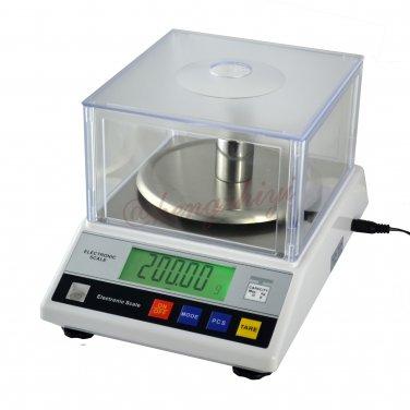 2000g x 0.01g High Precision Digital Scale Balance w Wind Shield +Germany Sensor, Free Shipping