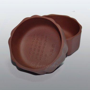 Handmade 2pc 60ml Yixing Zisha Unglazed Clay Tea Cup China Pottery Gongfu Teacup, Free Shipping