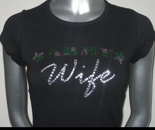 Army Wife Rhinestone Tshirt