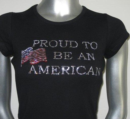 Proud American Rhinestone Shirt