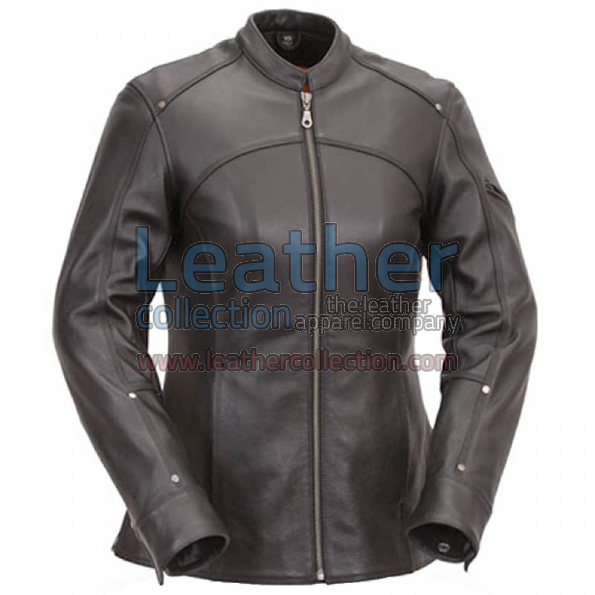 3/4 Length Touring Motorcycle Leather Jacket