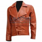 Aviator Movie Tan Biker Leather Jacket
