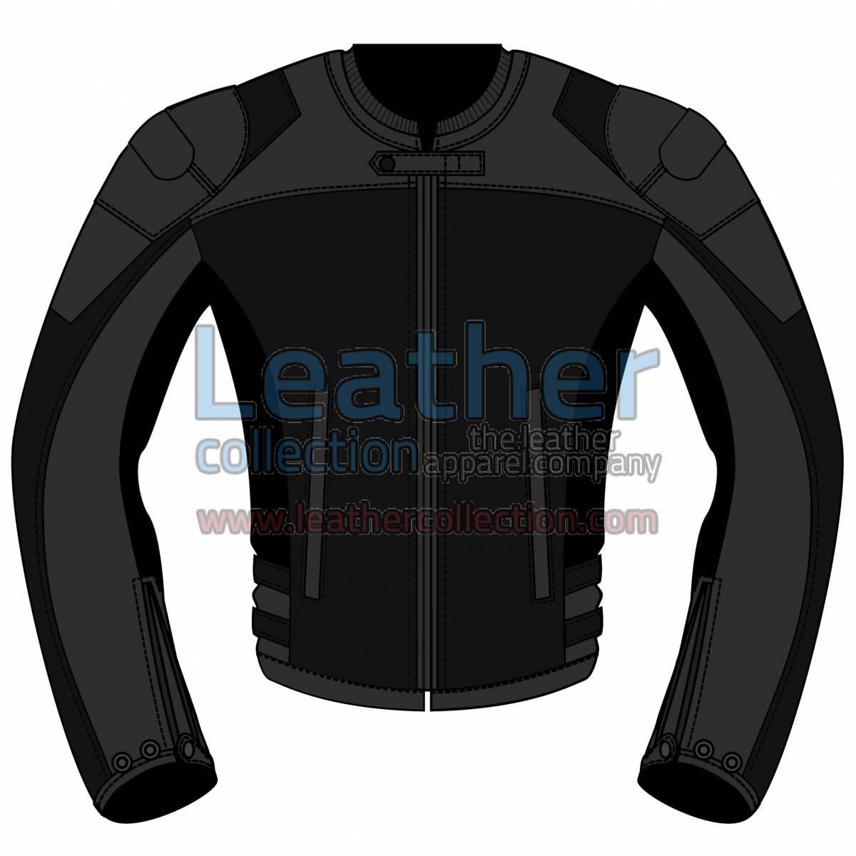 Bi Color Motorbike Leather Jacket For Women