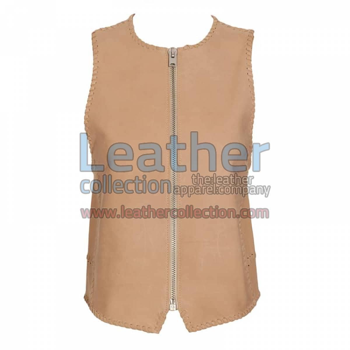 Braided Fashion Leather Vest