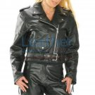 Brando Women Biker Leather Jacket