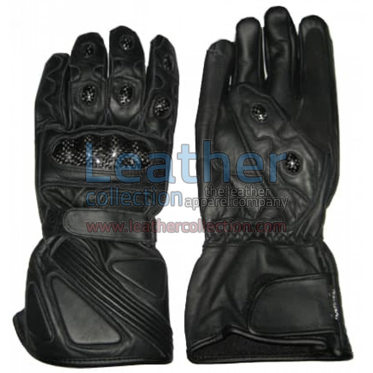 Bravo Black Leather Riding Gloves