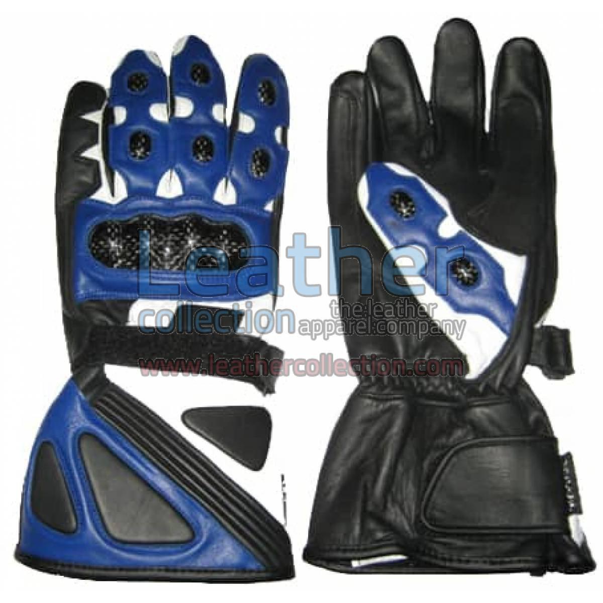 Bravo Blue Biker Gloves