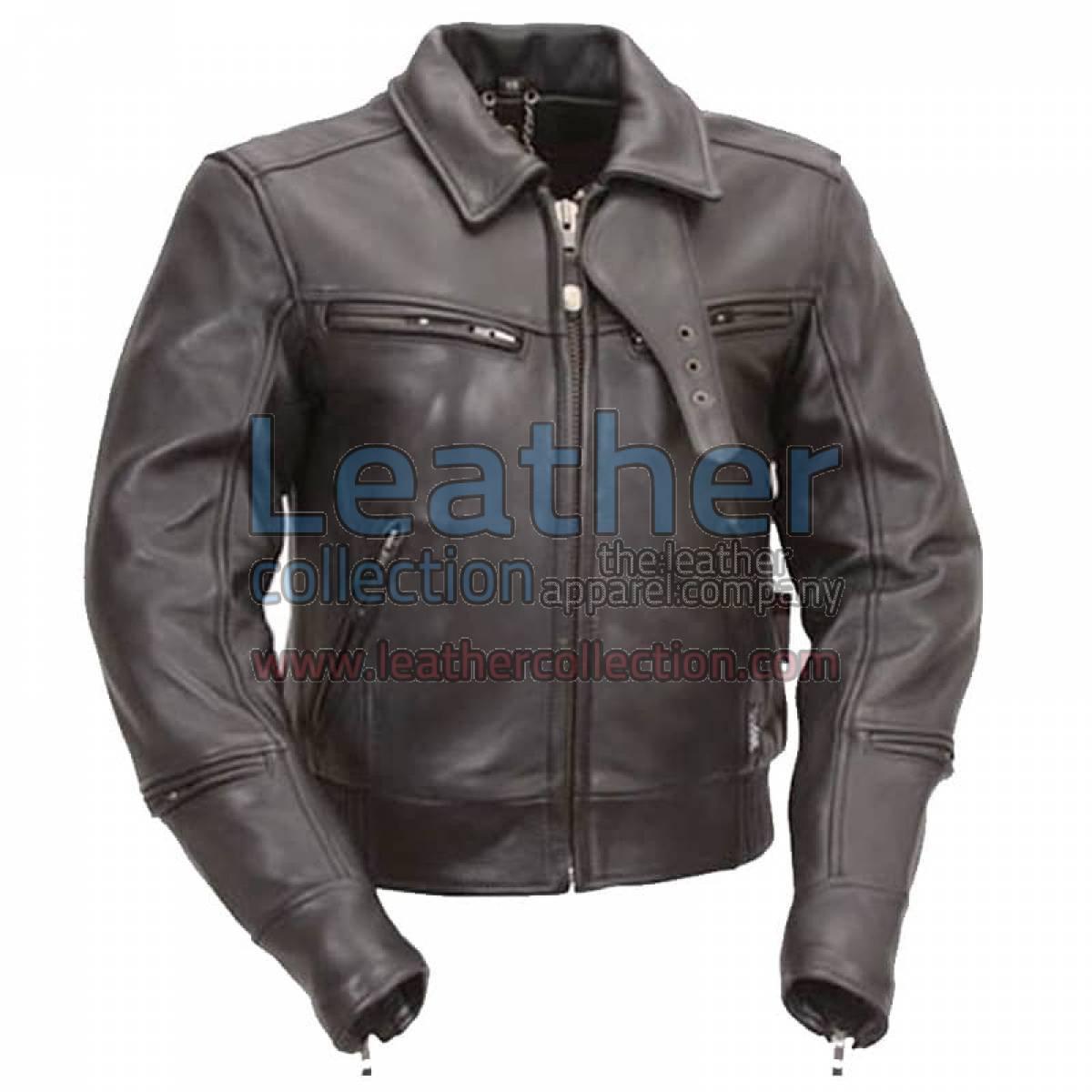 Bronson Hybrid Premium Naked Leather Biker Jacket