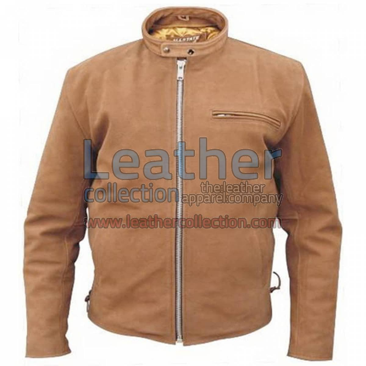 Brown Leather Scooter jacket