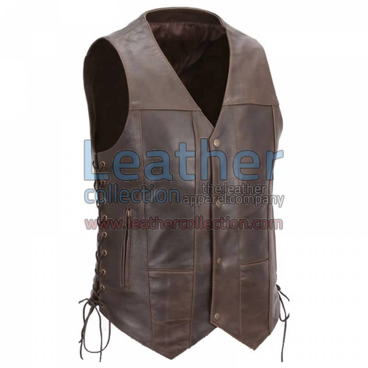 Brown Premium Leather Motorcycle Vest