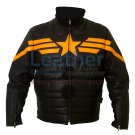 Captain America Black Biker Leather Jacket