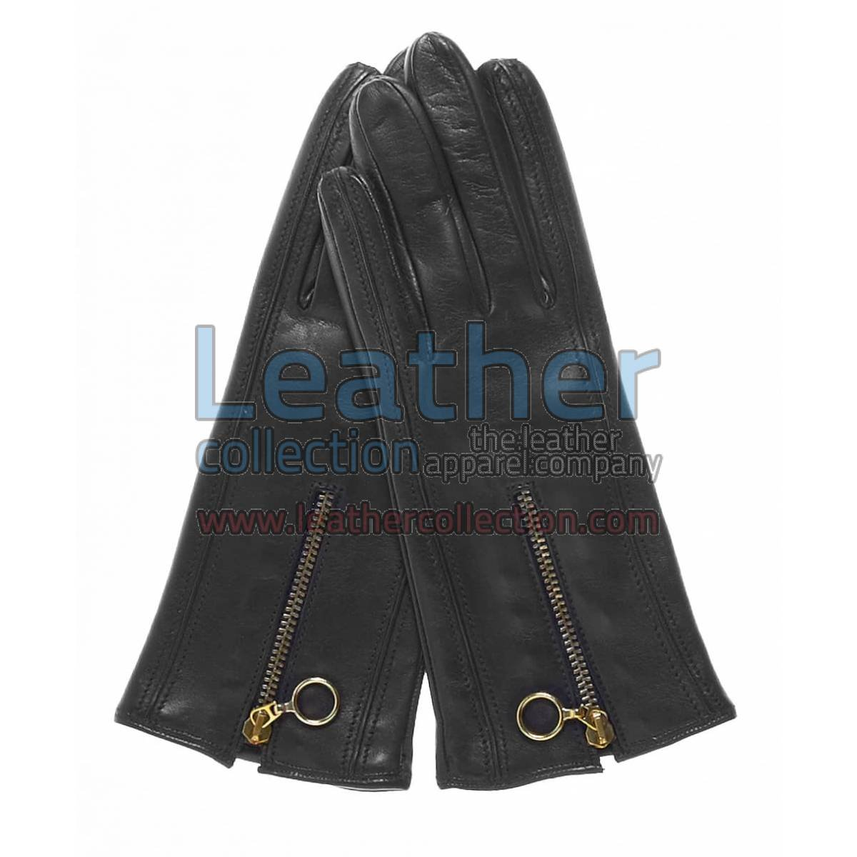Cashmere Lined Gloves With Zippers