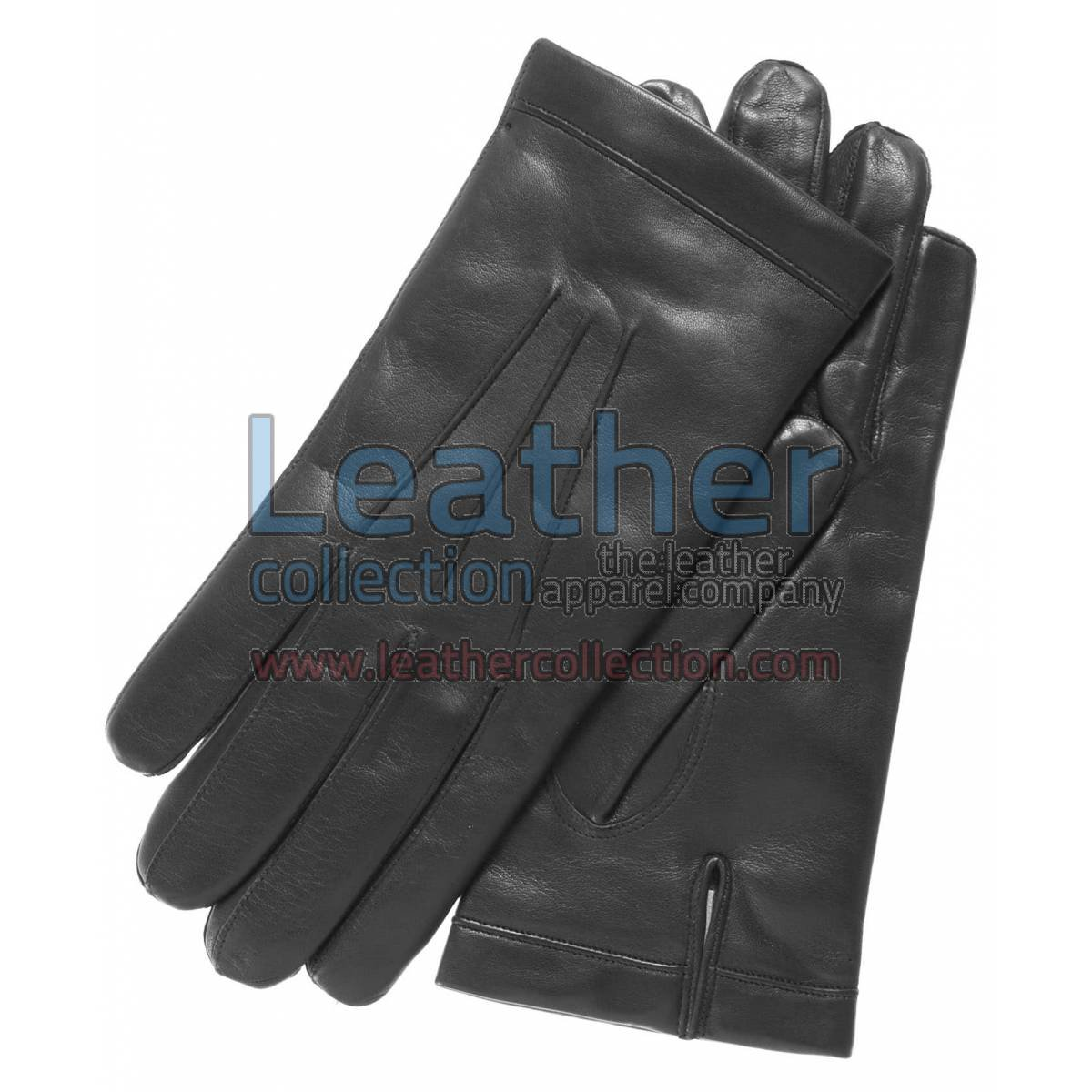 Classic Black Cashmere Lined Fashion Gloves