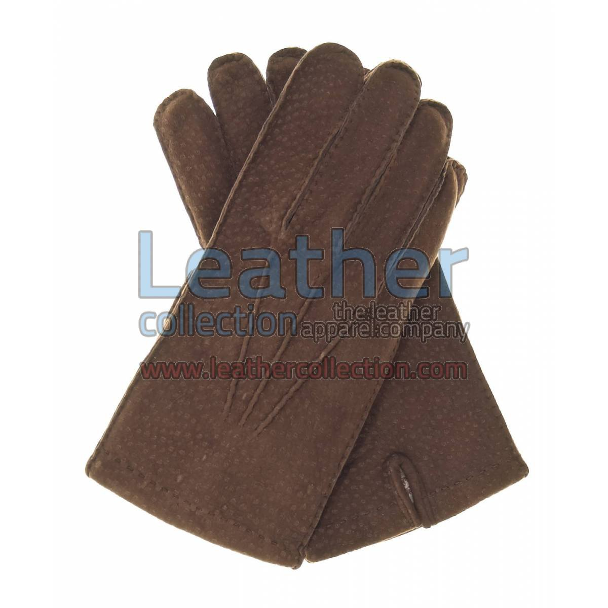 Coffee Dress Leather Gloves