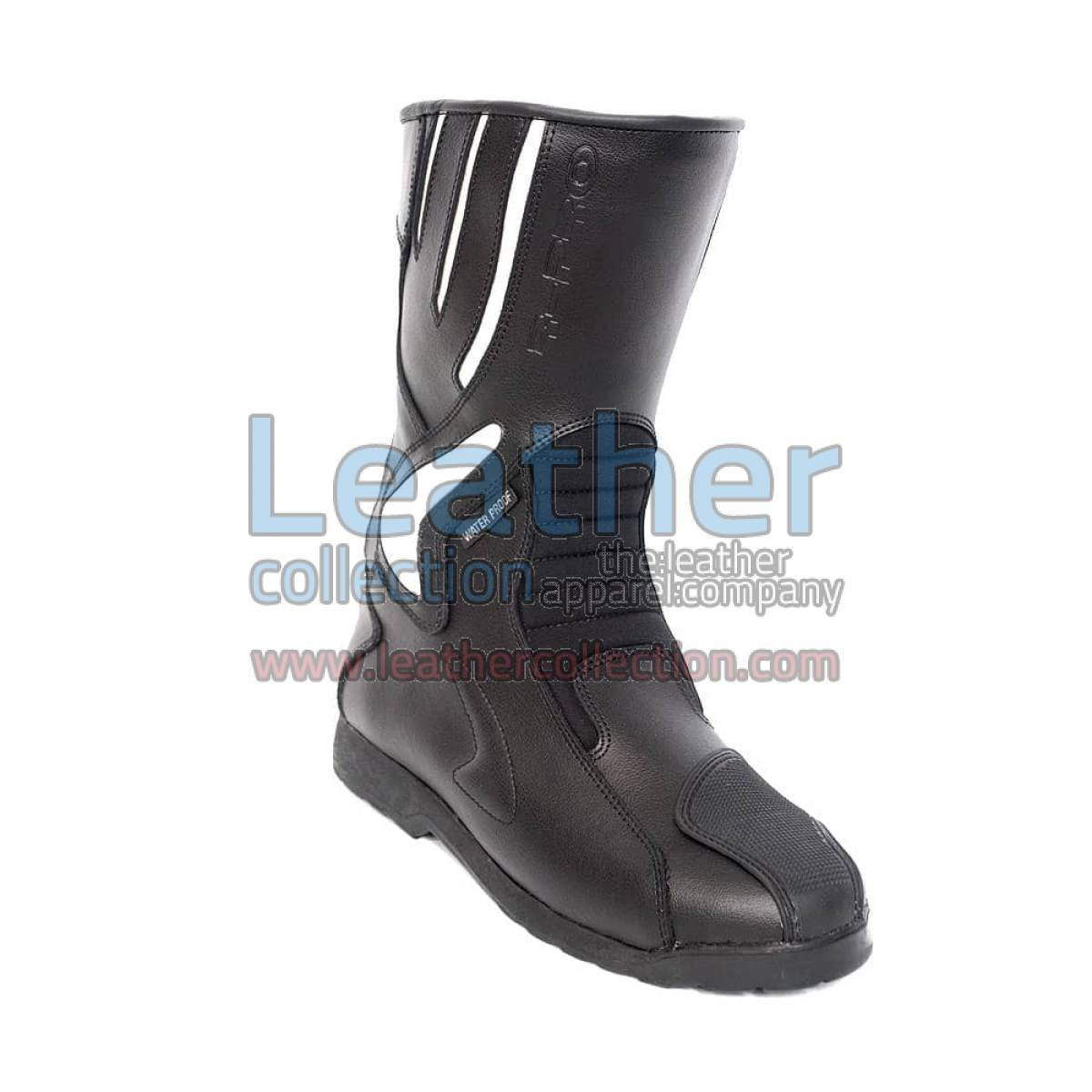 Crescent Leather Moto Boots
