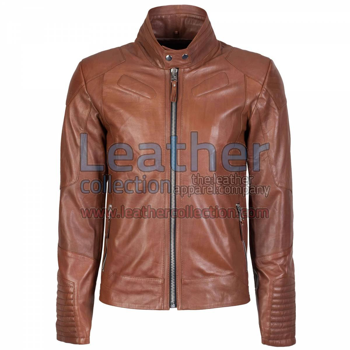 Deuce Classic Biker Leather Jacket Antique Brown