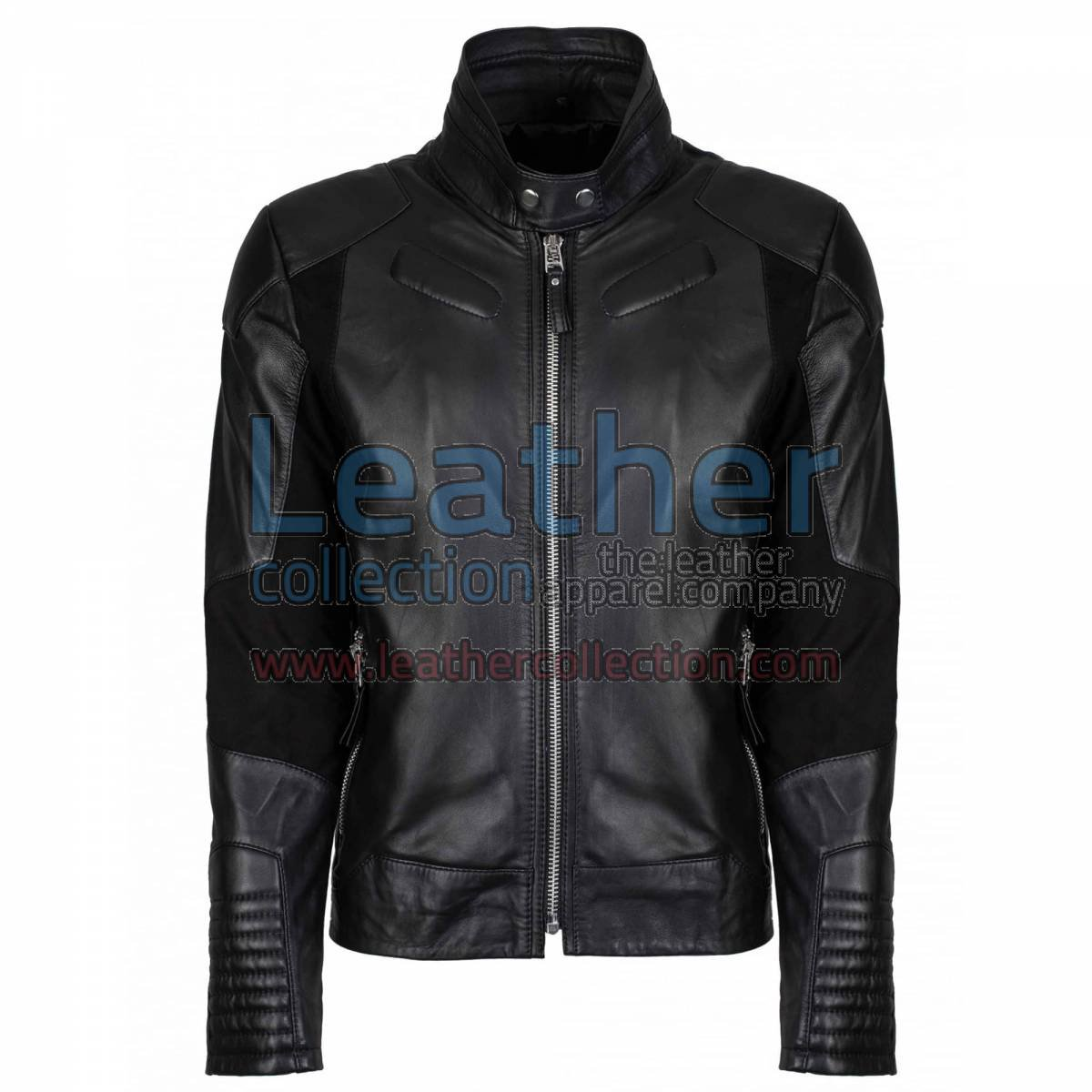 Deuce Classic Biker Leather Jacket Black