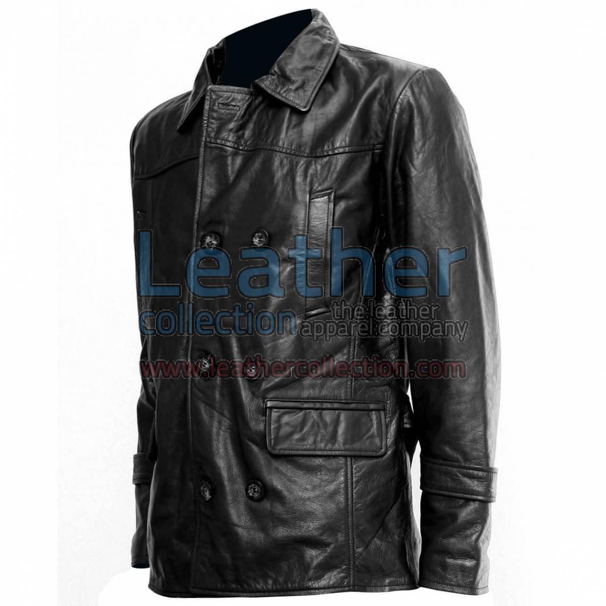 Doctor Who Black Leather Coat