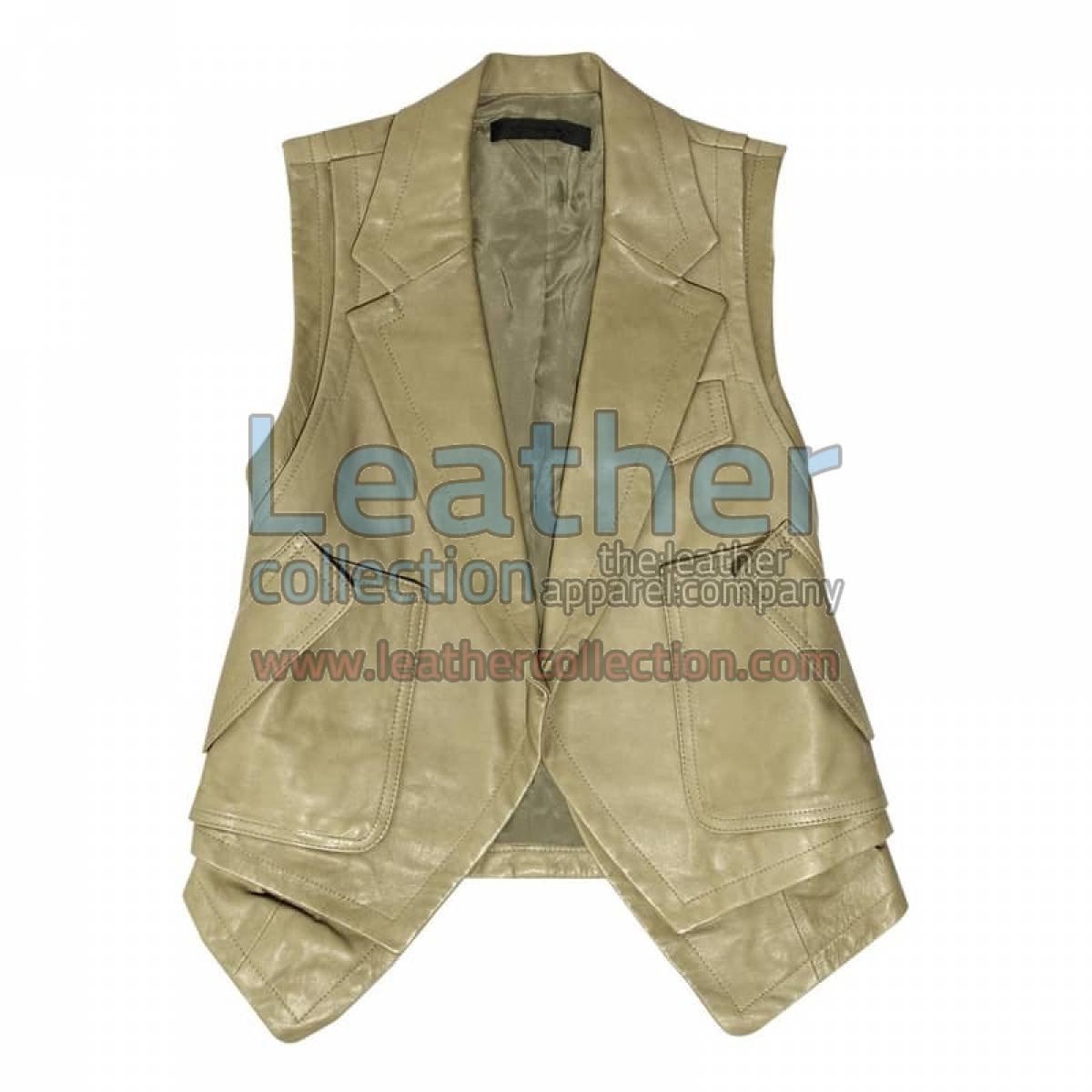 Fashion Leather Vest Coat