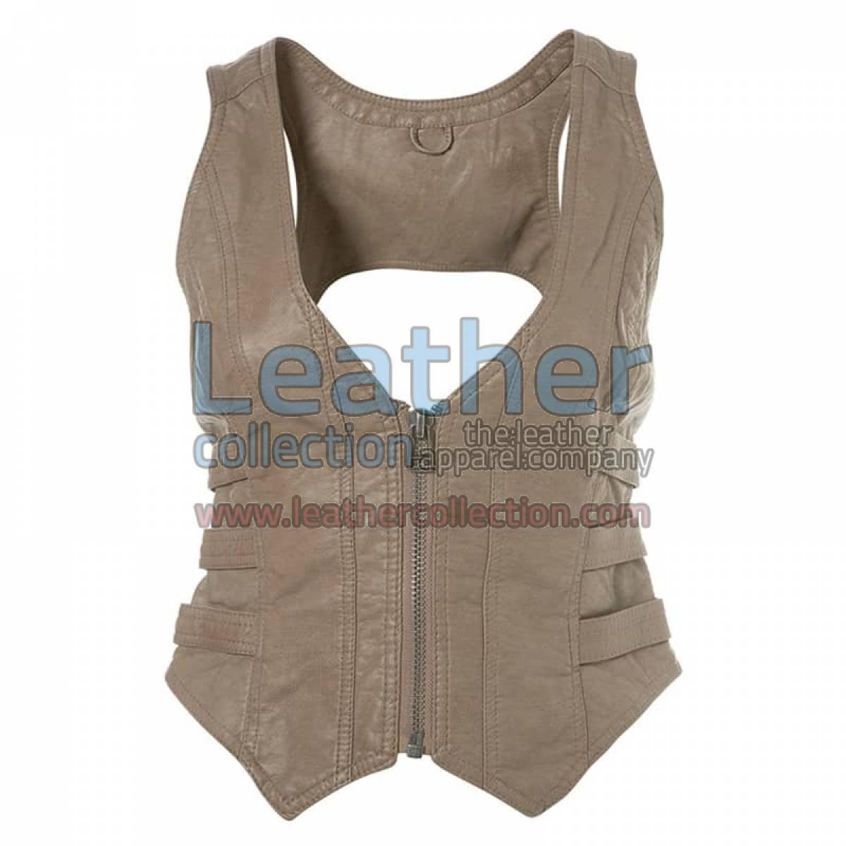 Fashion Short Leather Vest